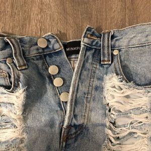 MINKPINK Shorts - MINKPINK XS Denim shorts